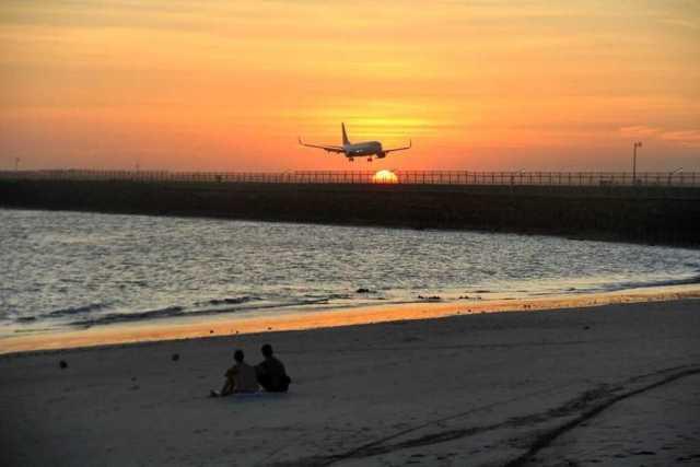 pantai kelan, sunset di bali