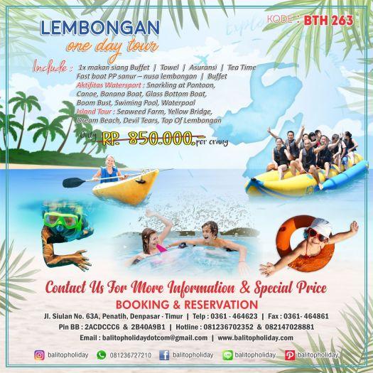 one day tour + watersport nusa lembongan