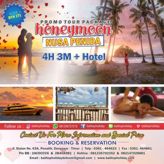 Paket Honeymoon 4 Hari 3 Malam + Nusa Penida baru BTH 271