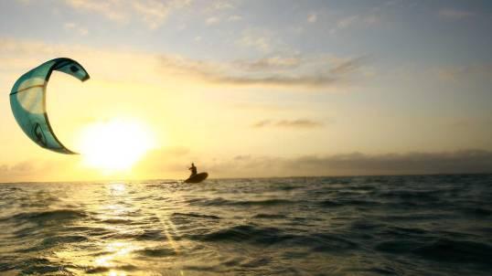 bali, wave, kite surfing, sunset, water sport