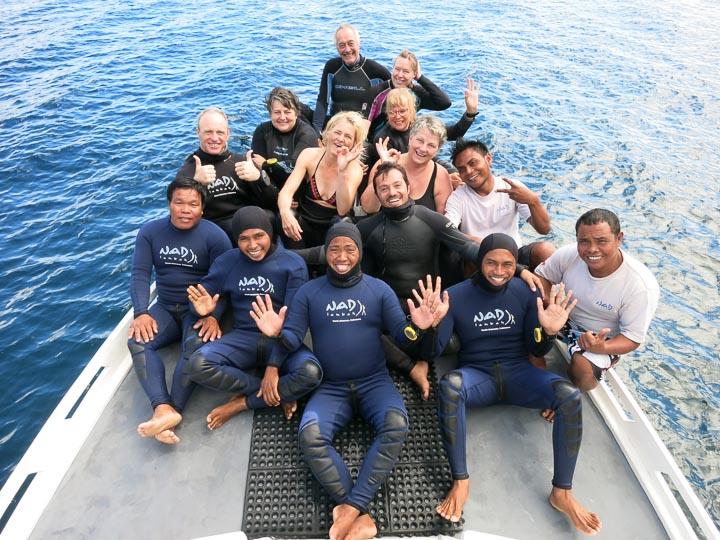 Group shot on Boat