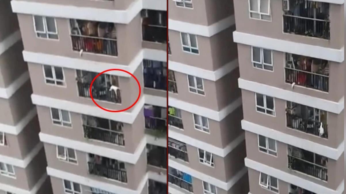 12. kattan düşen küçük kızı, yoldan geçen kurye kurtardı