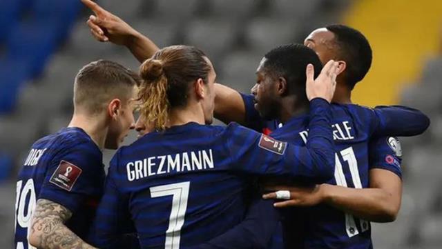 2022 Dünya Kupası Elemeleri D Grubu ikinci maçında Fransa, deplasmanda Kazakistan'ı 2-0 mağlup etti