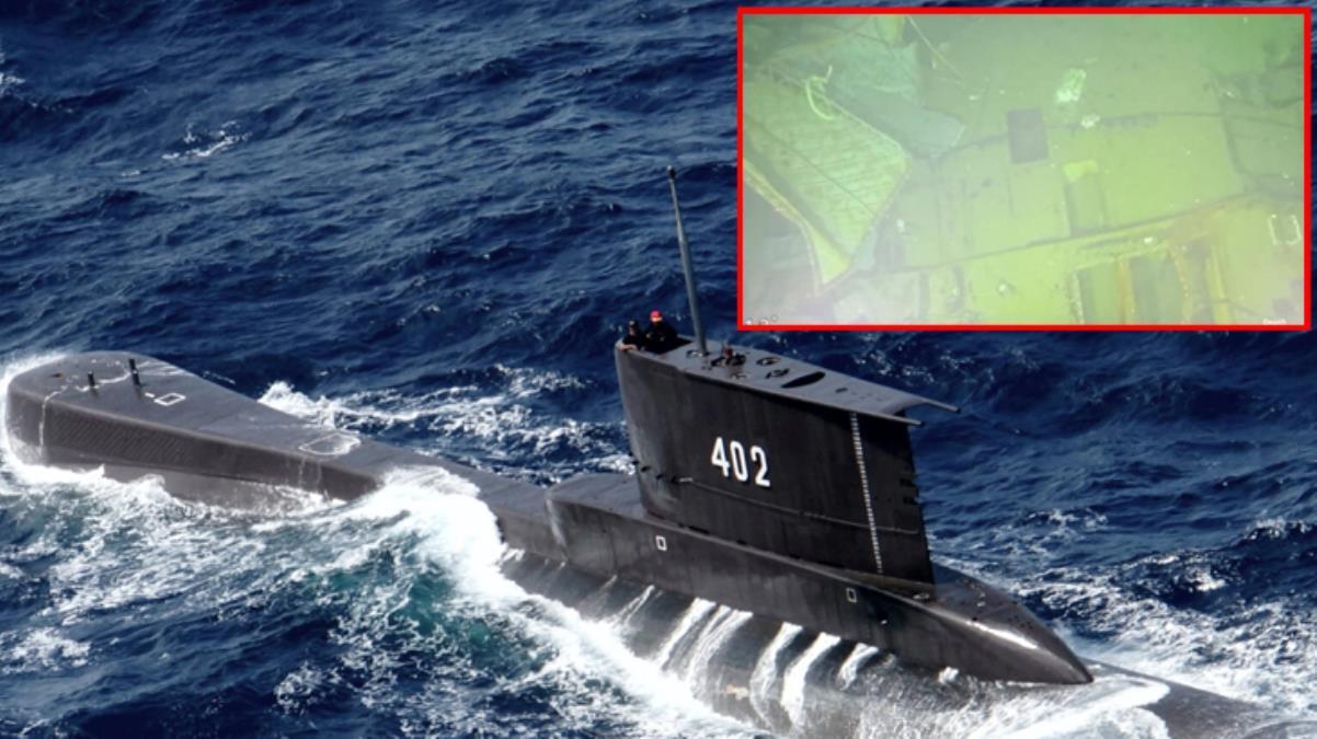 3 parçaya ayrılmış halde Bali Denizi'nin dibinde bulunan denizaltının görüntüleri ortaya çıktı