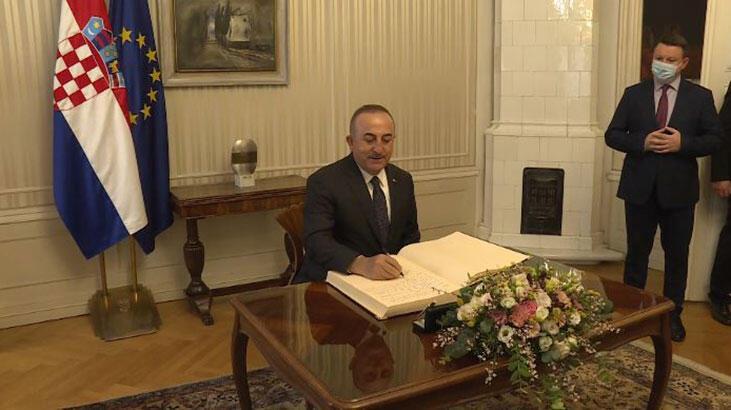 Bakan Çavuşoğlu, Hırvatistan'da konuştu: Pandemiye rağmen ticaretimizde artış var