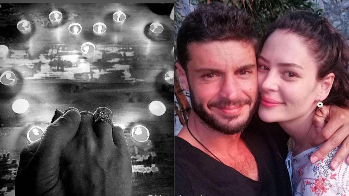 Berk Oktay'dan Yıldız Çağrı Atiksoy'a evlilik teklifi