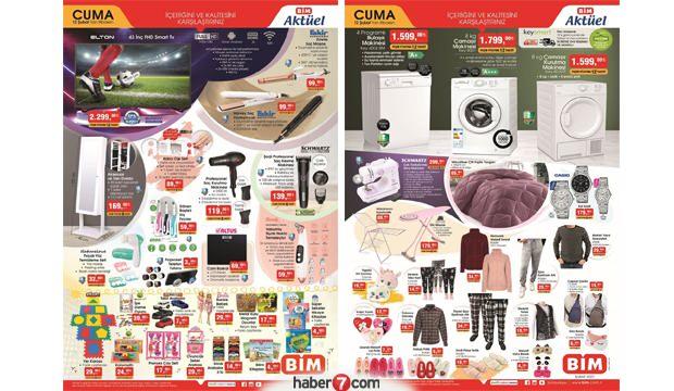 BİM 12 Şubat Aktüel Kataloğu! Beyaz eşya, elektronik, züccaciye, tekstil ve bakım ürünlerinde..
