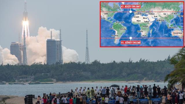 Çin'in kontrolden çıkan dev roketi nereye düşecek? İhtimaller arasında İstanbul ve Ankara da var