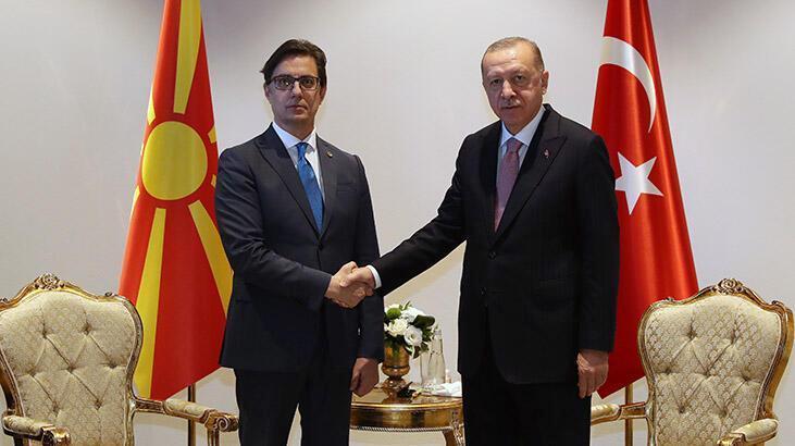 Cumhurbaşkanı Erdoğan, Kuzey Makedonya Cumhurbaşkanı ile görüştü