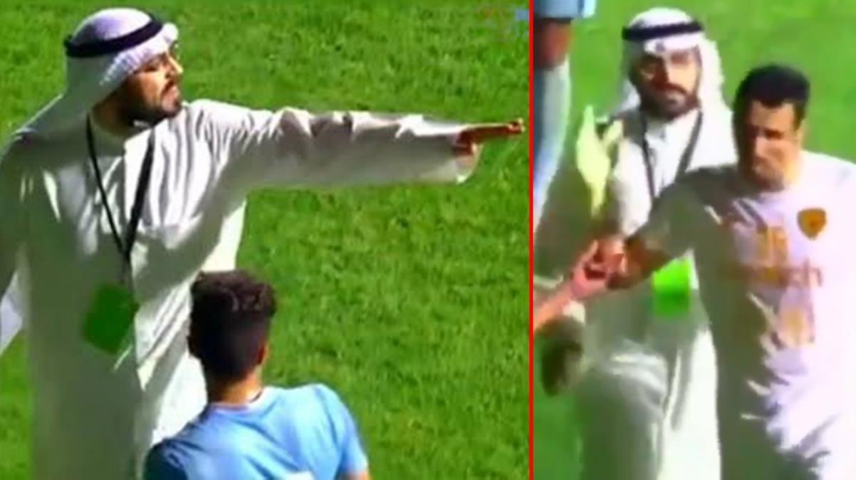 Hakemlerin işi gerçekten zor! Kulüp başkanı sahaya inip penaltıyı iptal ettirdi