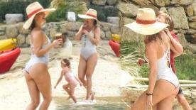 Kate Hudson'un üç çocuklu Yunanistan tatili