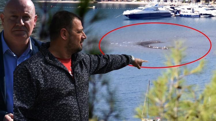 Marmaris' te deniz çekilmesi sonucu adacıklar oluştu