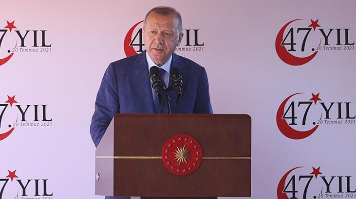 Son dakika… Cumhurbaşkanı Erdoğan KKTC'deki tarihi törende konuştu: Bizden kimse beklemesin!