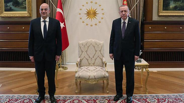 Son dakika! Cumhurbaşkanı Erdoğan, Yunanistan Dışişleri Bakanı Dendias'ı kabul etti