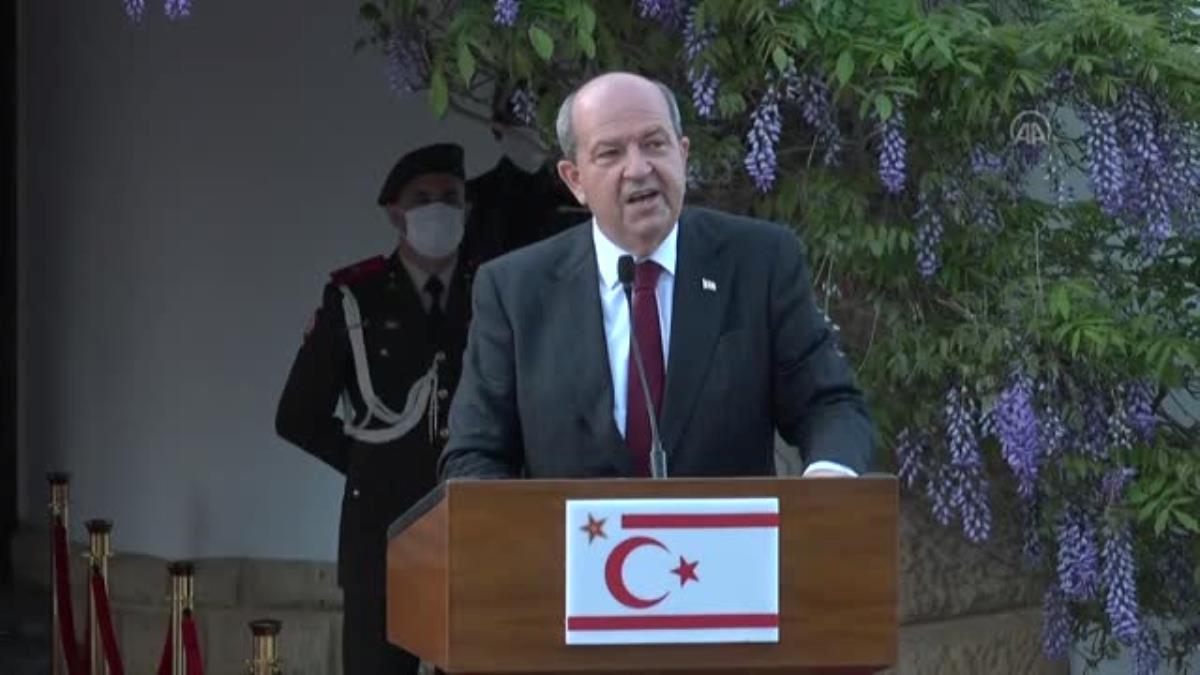 Son dakika! Dışişleri Bakanı Çavuşoğlu, KKTC Cumhurbaşkanı Tatar ile ortak basın toplantısında konuştu (1)  Açıklaması