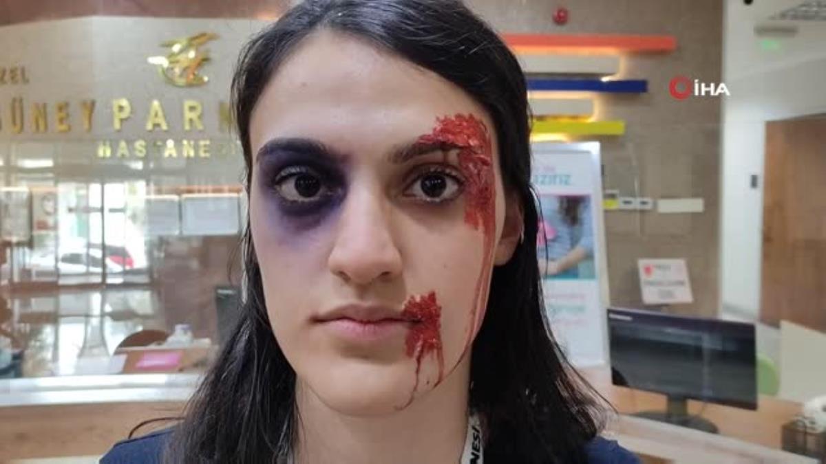 Son dakika haberleri! Yüzlerini boyayarak sağlıkçılara şiddete dikkat çektiler