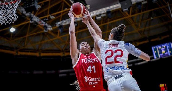 Türkiye A Milli Kadın Basketbol Takımı, hazırlık maçında İspanya'ya 75-41 yenildi