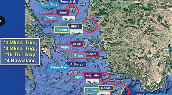 Yunanistan 21 adaya asker yerleştirdi ve silahlandırdı