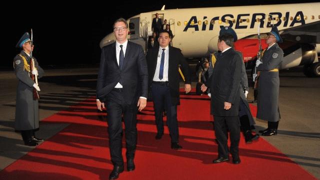 Vučić doputovao u Kazahstan