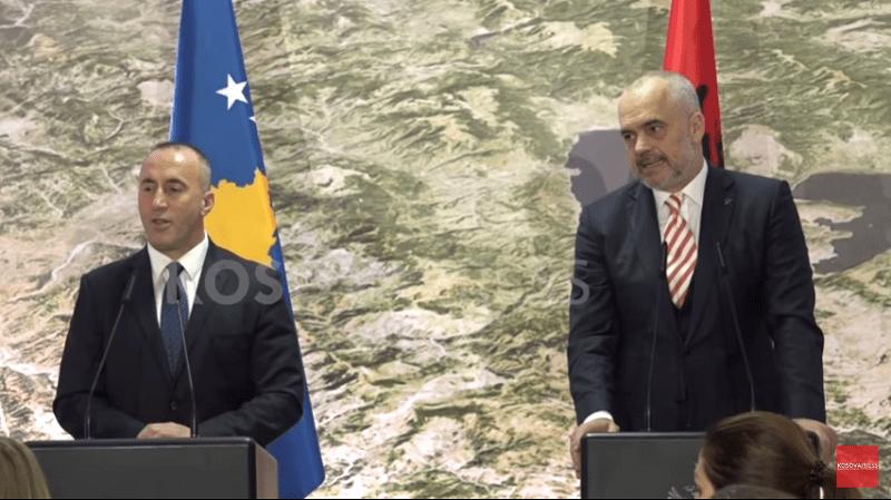 Rama i Haradinaj: Ujedinjenje ekonomija Kosova i Albanije, ukidanje carina, ukidanje rominga...