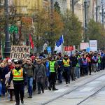 Protest studenata u Budimpešti: Slobodna misao mora da se odbrani!