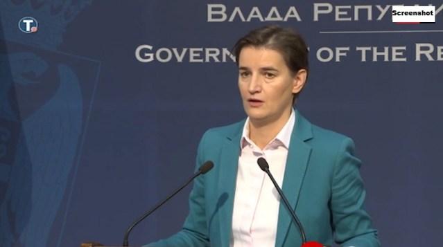 Brnabić: Nadam se da Srbija neće morati da upotrebi vojsku