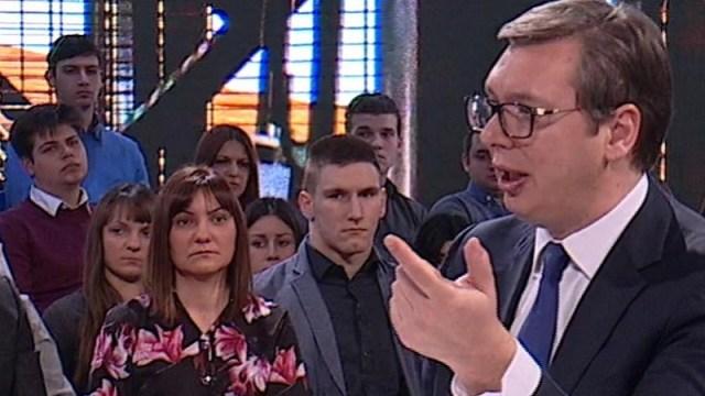 """Vučić na Pinku: Đilas, Šolak, Putin, Milena, Kosovo, sudije, Tači, """"Ua pederi"""" i još puno toga…"""