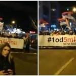 """Hiljade ljudi na trećem protestu """"1 od 5 miliona"""" u Novom Sadu: """"Novi Sad slobodan grad"""""""