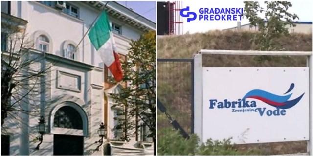 Građanski preokret Ambasadi Italije: Obećali ste čistu vodu Zrenjanicima još 2015. Da li je to zaista italijanska investicija?
