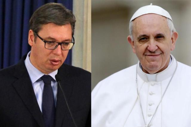 Vučić sutra u Vatikanu sa papom Franjom