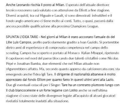 Tare Milan