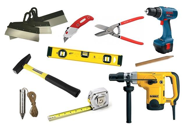 Instrumente pentru montarea panourilor din PVC