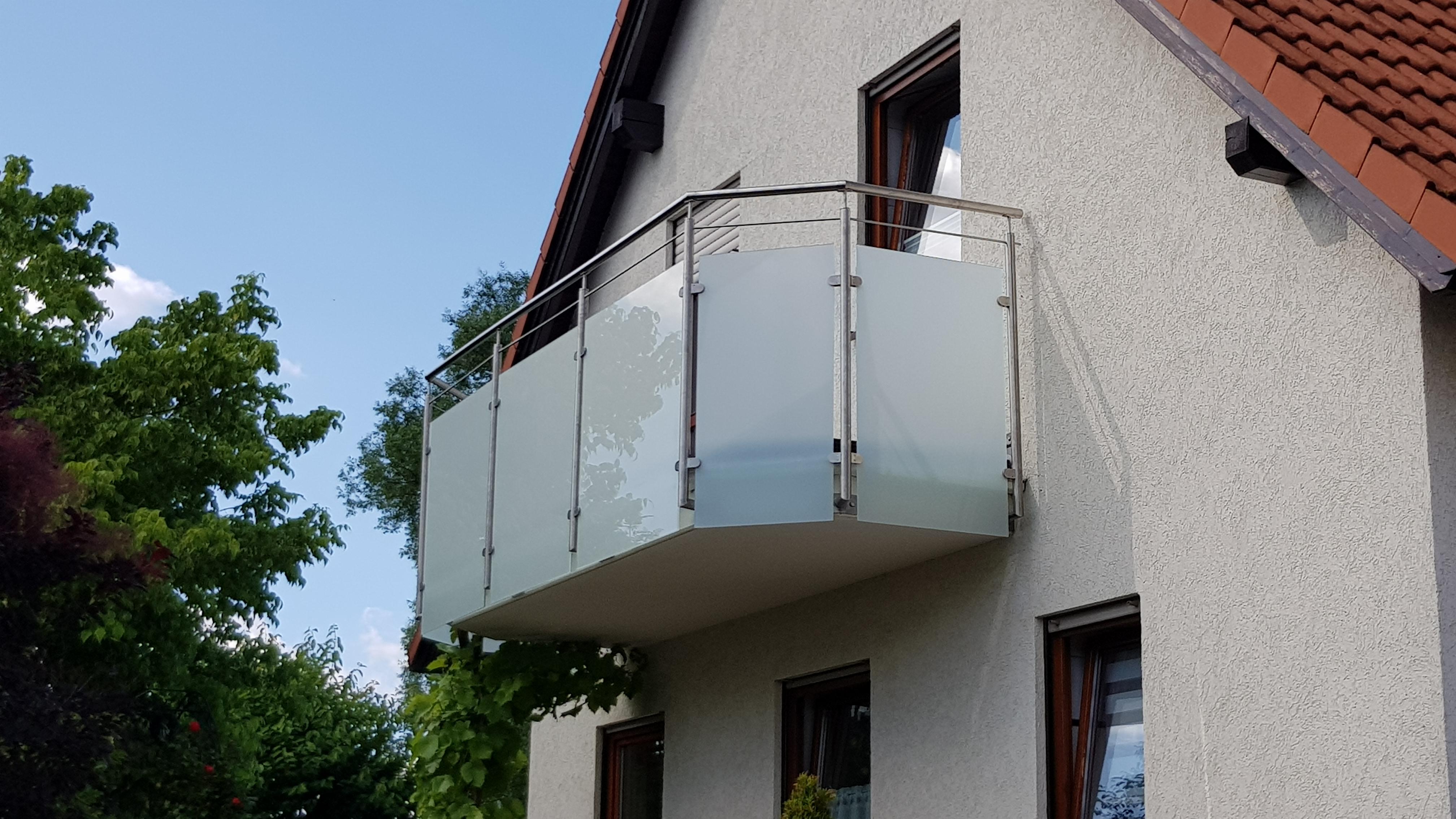 Balkongeländer Edelstahl Glas