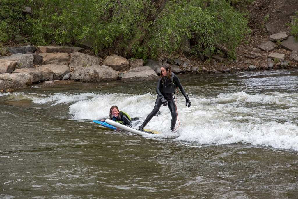 Whitewater surfing in Salida, Colorado