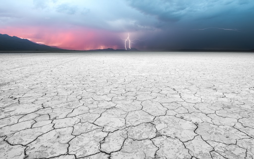lightning alvord desert dried up lake bed