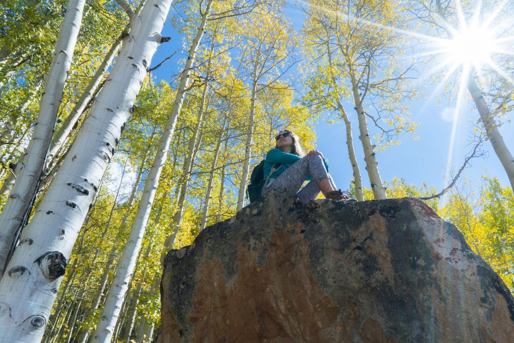 mount crested butte hiking fall aspens