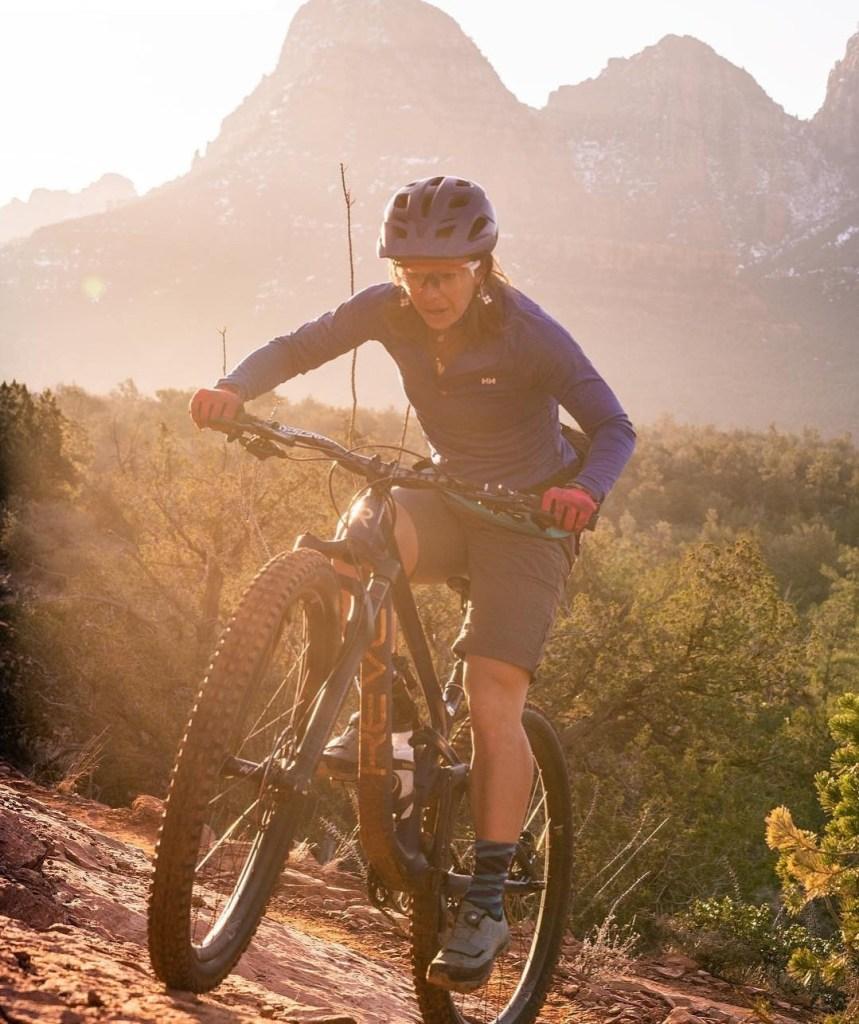 elizabeth sampey mountain biking woes of winter photo by whitton feer revel bikes