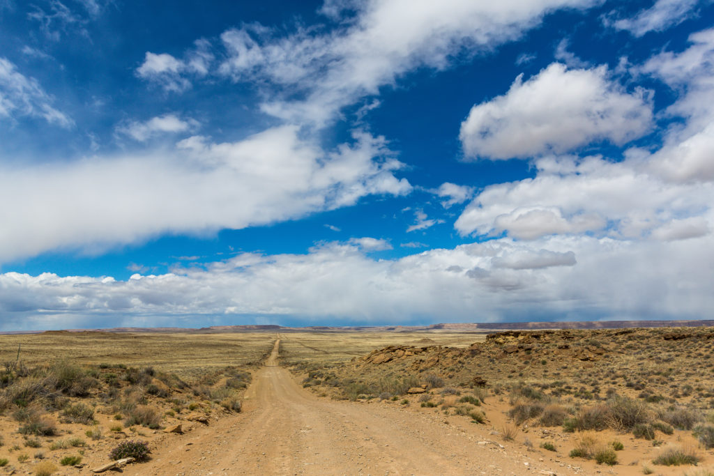 chaco canyon dirt road new mexico