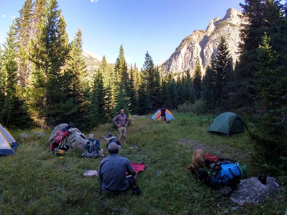 family backpacking teton crest trail