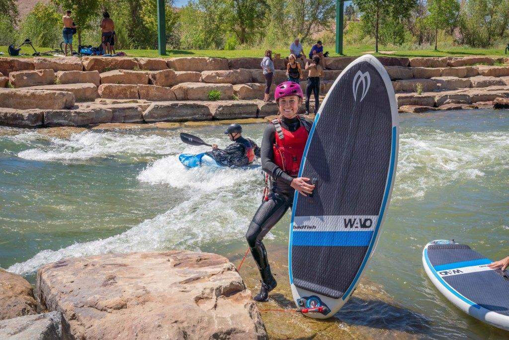 badfish sup wavo river surfboard montrose water sports park