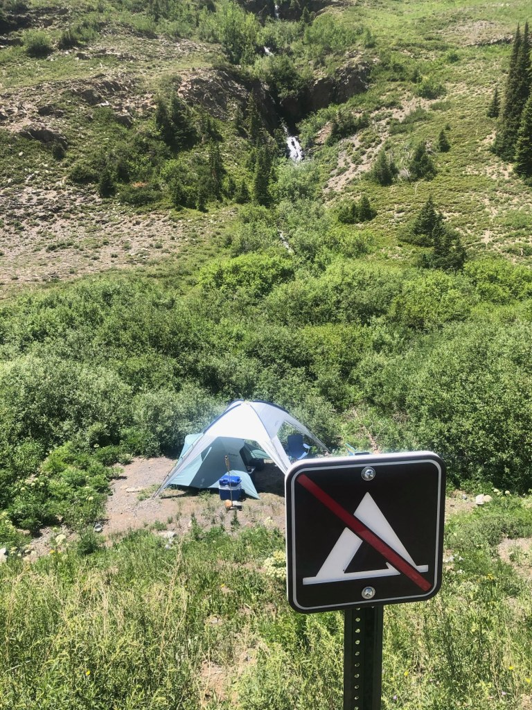 illicit campsite colorado