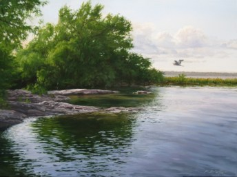 """Adelaide Island 18"""" x 24"""" Acrylic on Canvas - Price on Request"""
