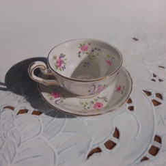 """Tea Time #1 Acrylic on Board 12"""" x 12"""" Price on Request"""