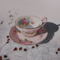 """Tea Time #2 Acrylic on Board 12"""" x 12"""" - Price on Request"""