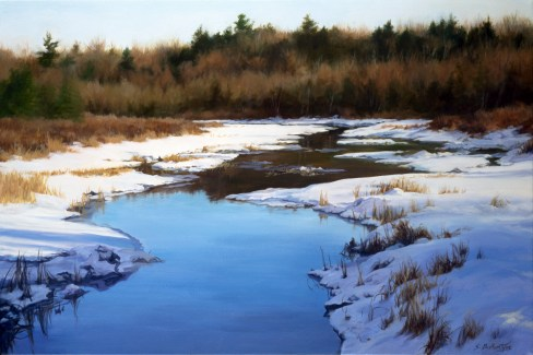 """Winter's Palette 24"""" x 36"""" Acrylic on Canvas - Price on Request"""