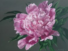 "Peony #1 Acrylic on Panel 4.5""X 6"" X 1.5"" SOLD"
