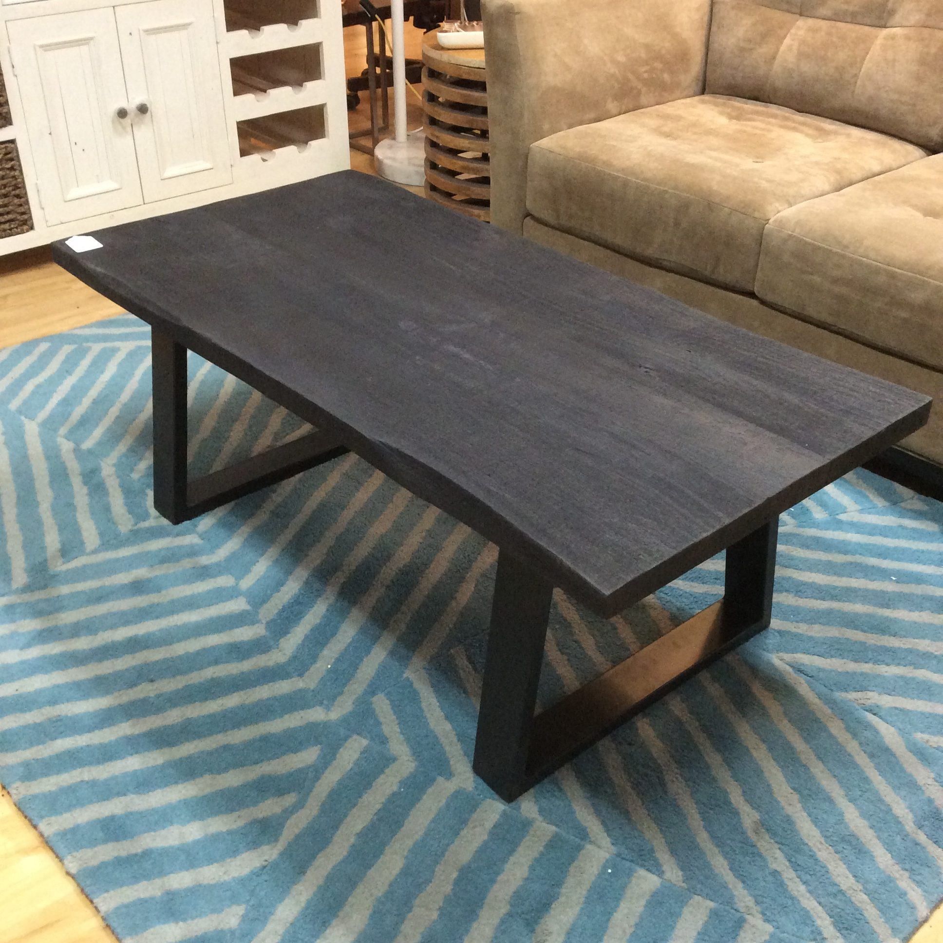 natural dark wood coffee table sold