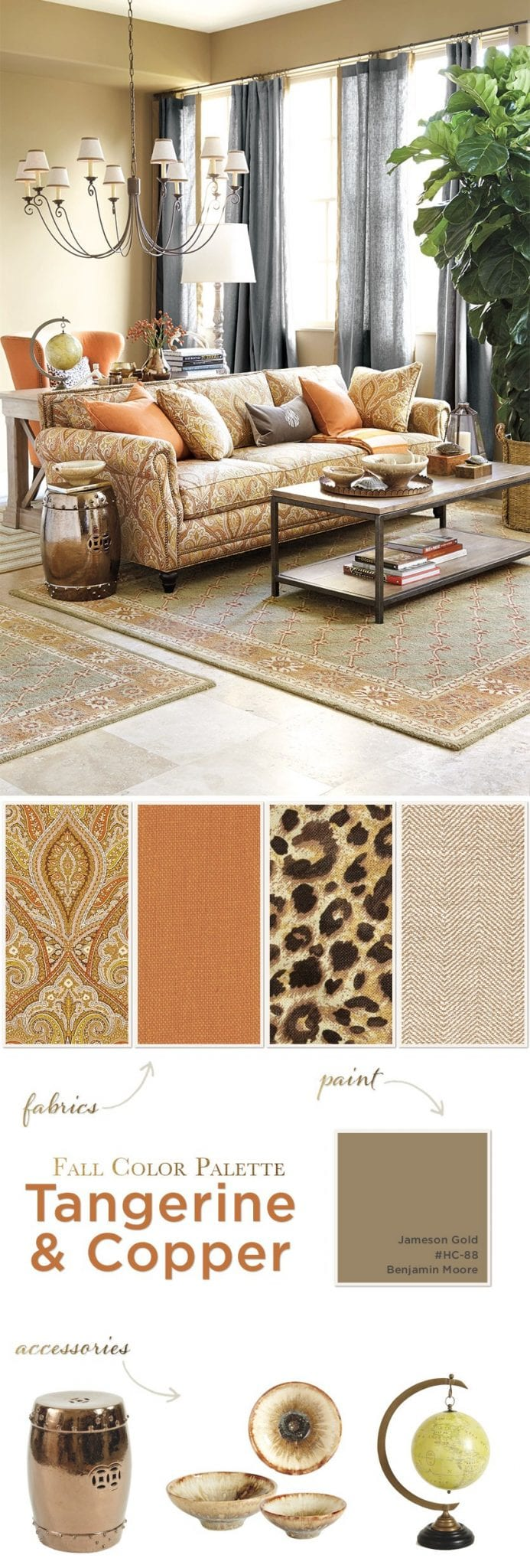 Fall Color Palettes Copper And Tangerine How To Decorate