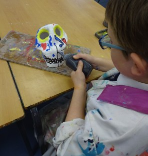 2016.2.10 Yr 4 Day of the dead masks (5)