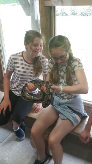 Ballard Longleat snake girls smile